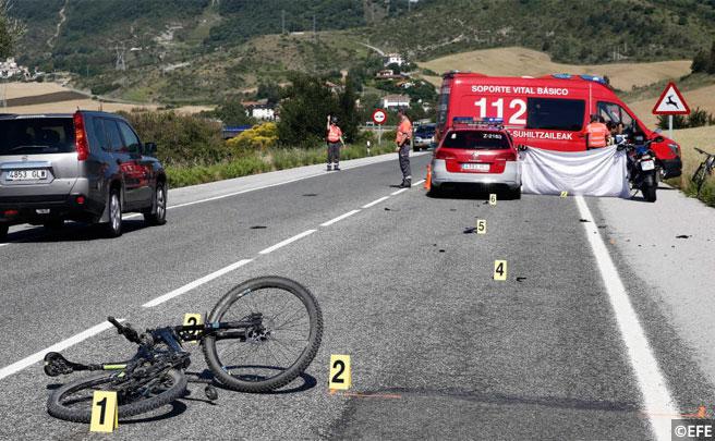 Jornada trágica en Navarra con tres ciclistas muertos en una misma mañana