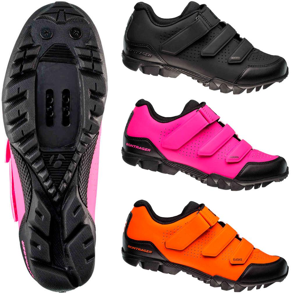779a9db51 Más protección y colores vistosos para las zapatillas Bontrager Evoke y  Adorn de 2018