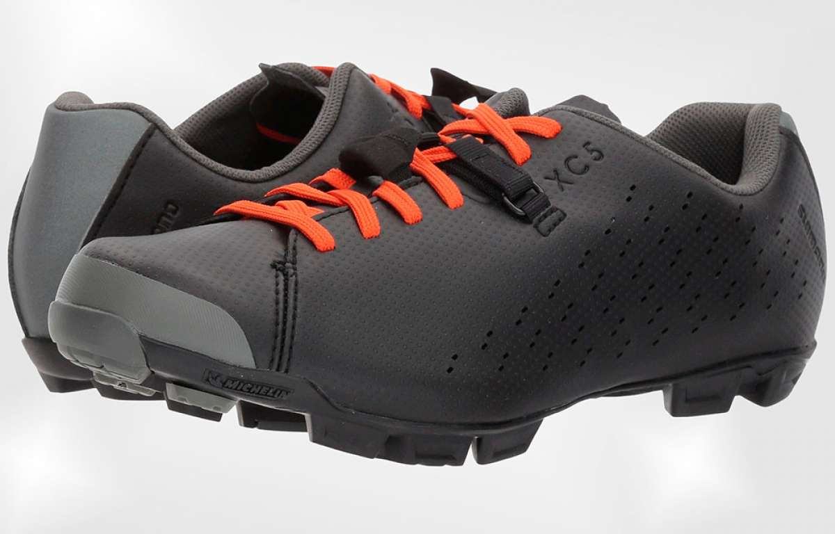 Cierre por cordones y suela Michelin para las zapatillas Shimano XC5