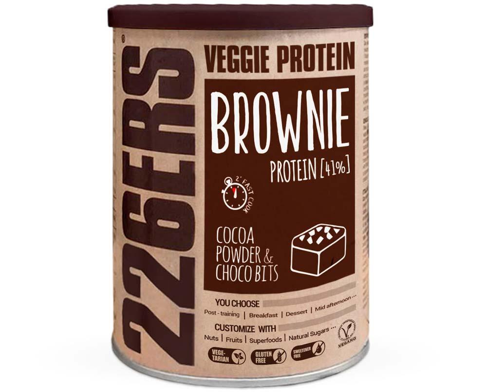 En TodoMountainBike: ¿Un pastel de chocolate con un 41% de proteína? Sí, el Veggie Protein Brownie de 226ERS
