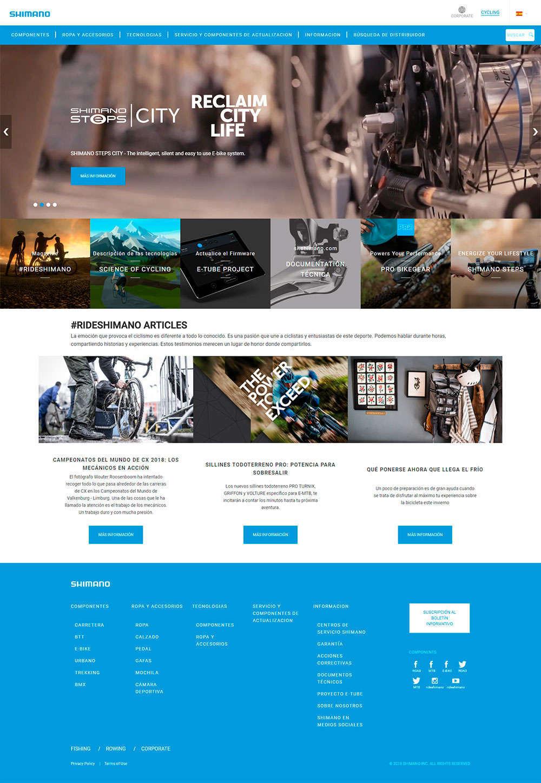 Shimano actualiza por completo su plataforma web, ahora también en español