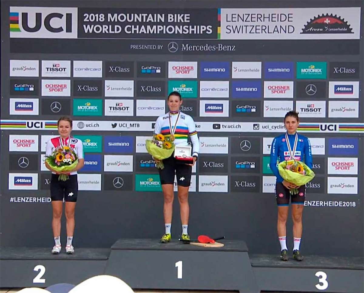 Alessandra Keller se proclama campeona del mundo Sub-23 en el Mundial XCO 2018 de Lenzerheide