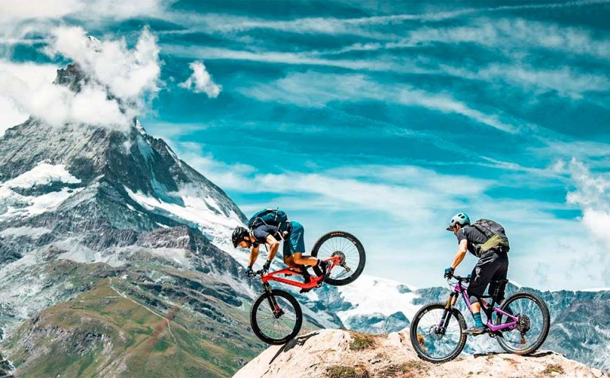 Rodando en los Alpes con Pol Tarrés, Alex von Arend, y dos Orbea Rallon