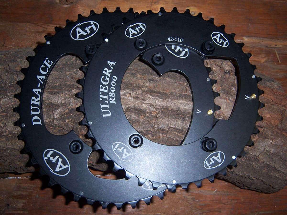 Aribike presenta una gama de platos de ciclocross para grupos Shimano Dura Ace R9100 y Ultegra R8000