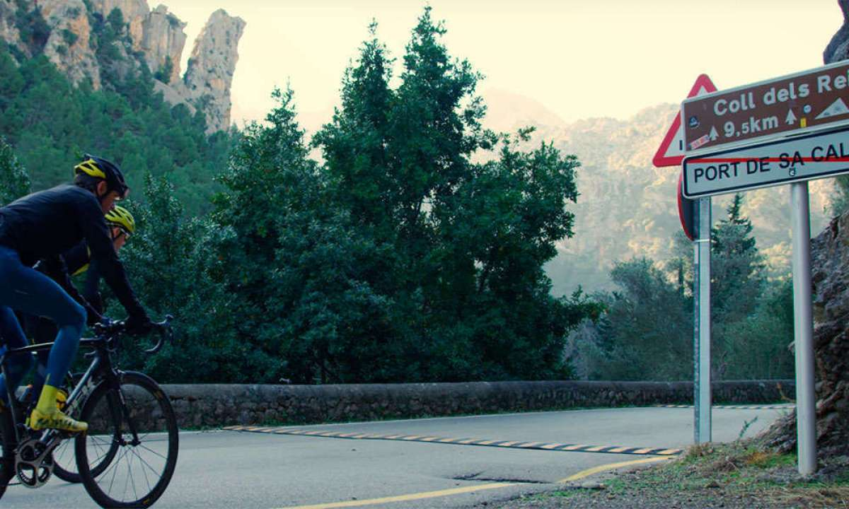 Rodando de Sa Calobra al Coll dels Reis (Mallorca) con Fränk Schleck