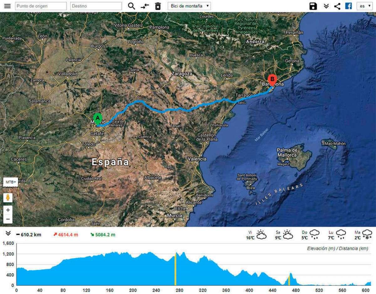 BikeRoll, una utilidad online para crear rutas de bicicleta de forma absurdamente sencilla