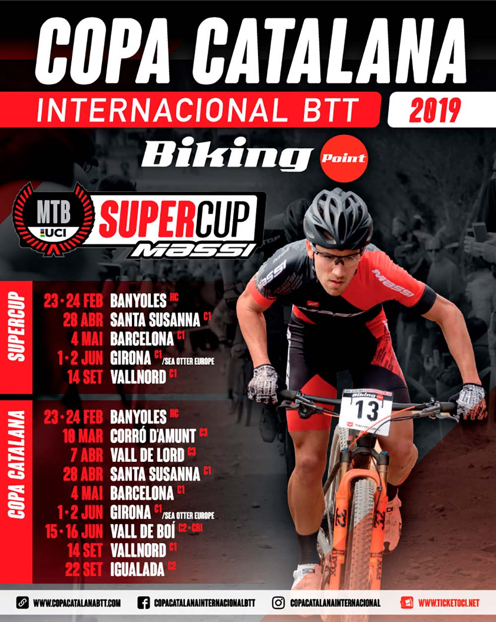 La Copa Catalana Internacional BTT Biking Point desvela su calendario de 2019
