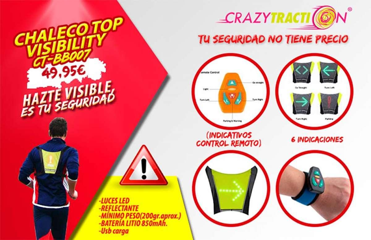 Top Visibility CT-BB007, un chaleco con tecnología LED para ciclistas, runners y usuarios de patinetes eléctricos