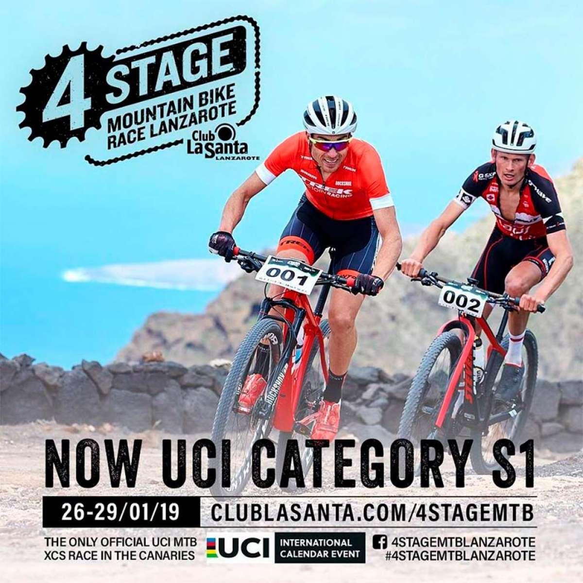 La Club La Santa 4 Stage MTB Race Lanzarote estrena la categoría UCI S1 en su edición de 2019