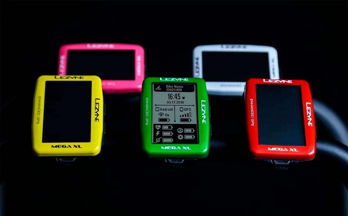 Los ciclocomputadores Mega XL, Mega C y Super GPS de Lezyne reciben más opciones de color