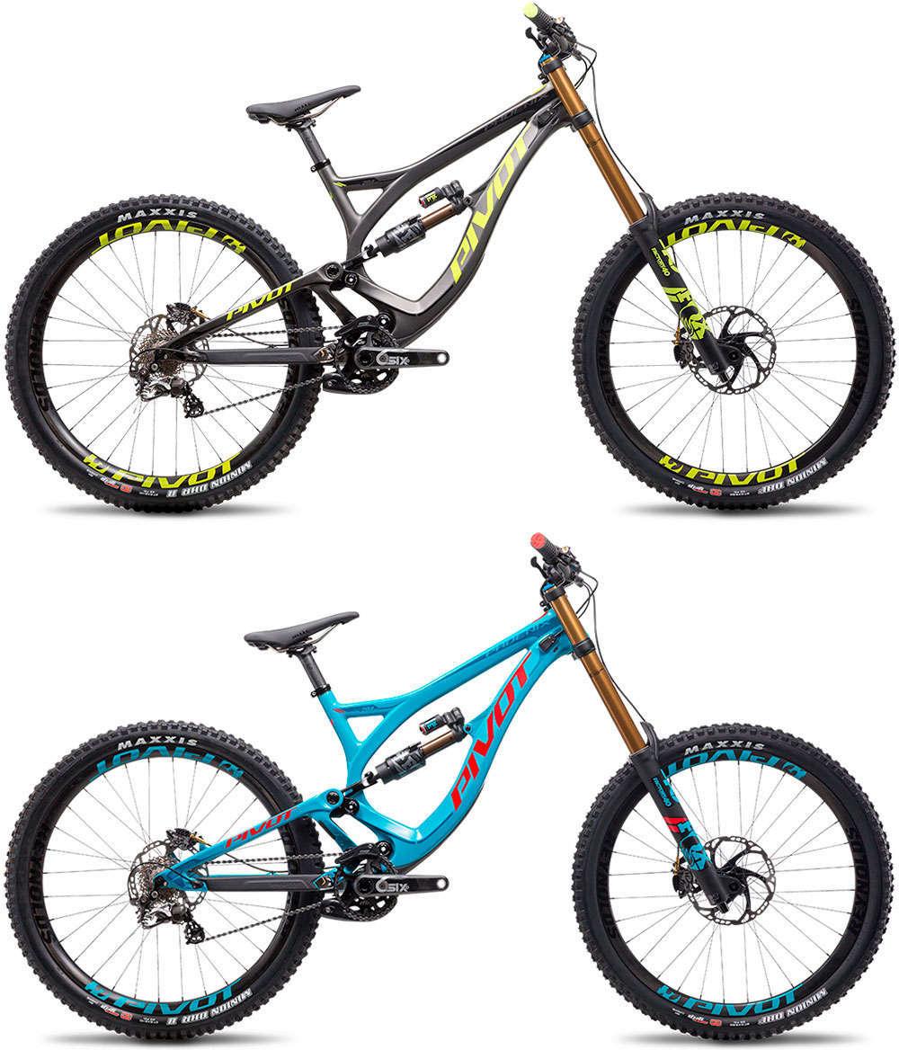 En TodoMountainBike: Más colores para la Pivot Phoenix DH Carbon, ahora también en gris/amarillo y azul/rojo