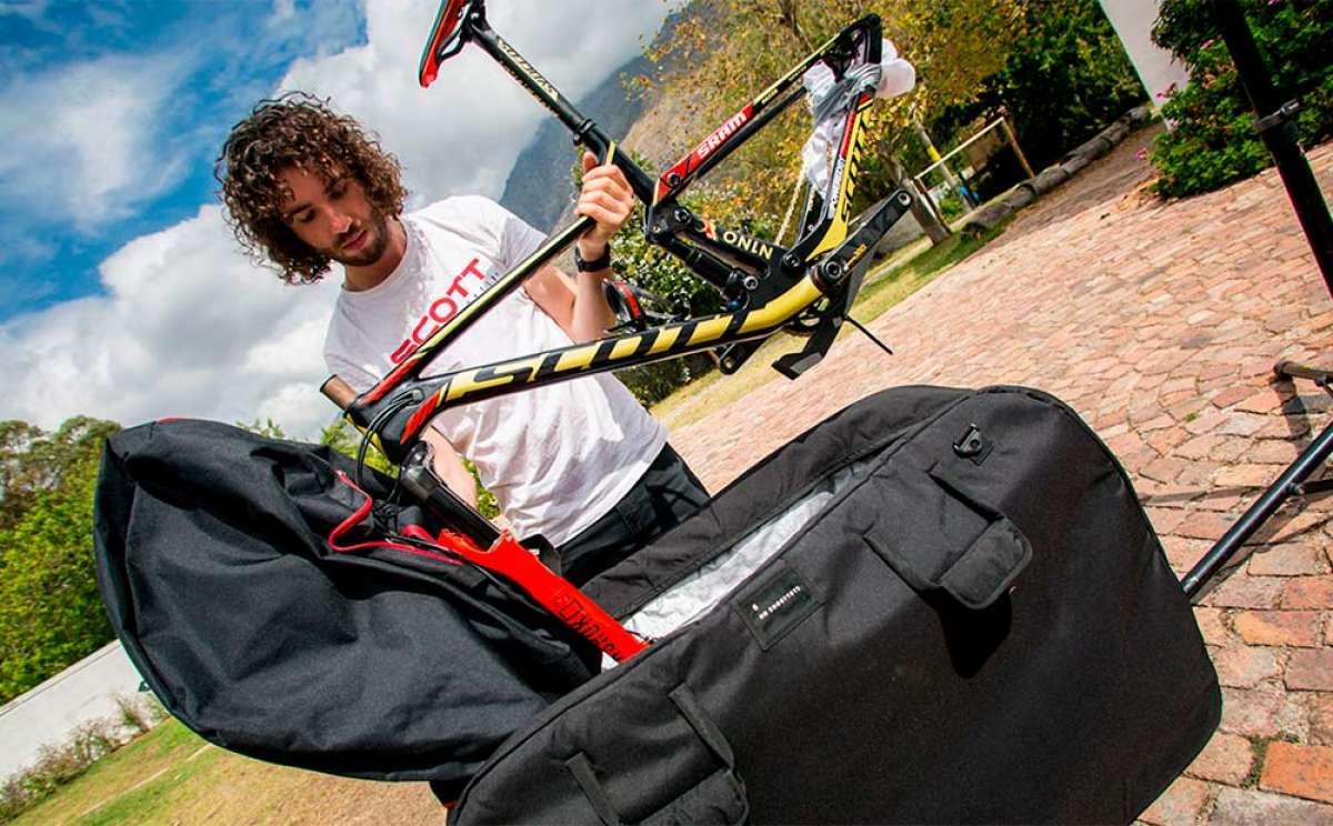 ¿Cómo empaquetar una bicicleta para viajar en avión? Yanick Gyger lo explica