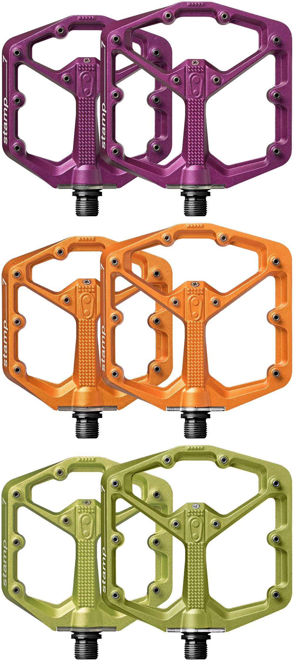 En TodoMountainBike: Edición limitada en color naranja, verde o púrpura para los pedales Crankbrothers Stamp 7