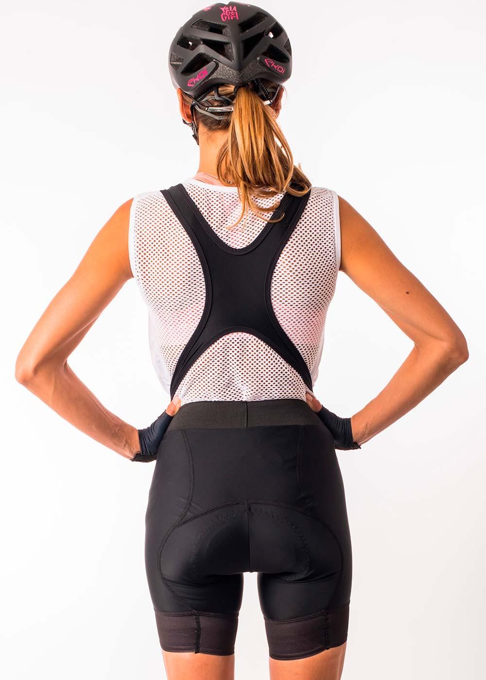 En TodoMountainBike: Badana específica según el peso de la ciclista y tirantes desmontables para el culotte Ekoï Lady Pro Gel Memory