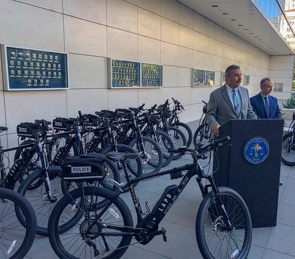 En TodoMountainBike: El Departamento de Policía de Los Ángeles (LAPD) estrena una flota de 20 bicicletas eléctricas de Bulls