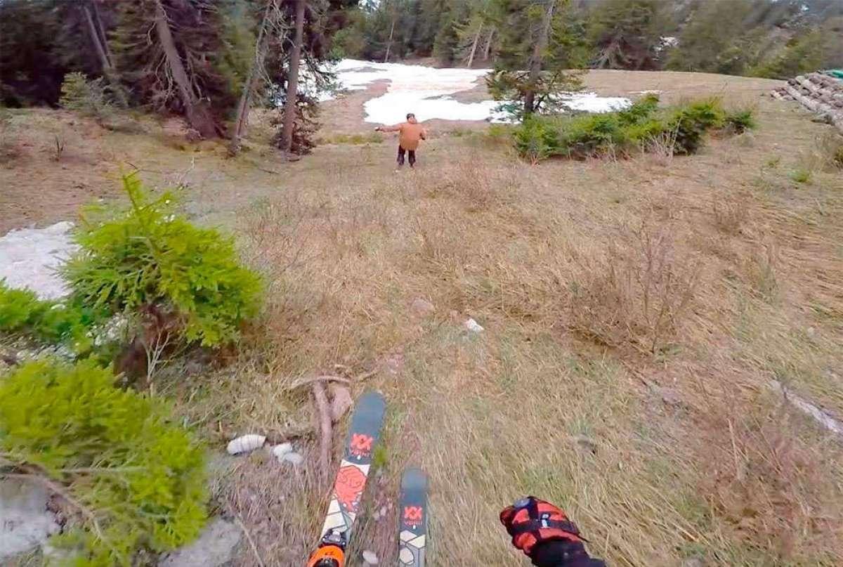 Un dos por uno: de los esquís a la bicicleta en un mismo descenso