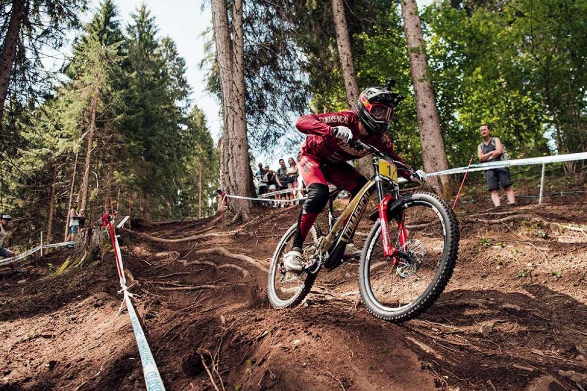 El descenso ganador de Amaury Pierron en la Copa del Mundo DHI 2018 de Val di Sole