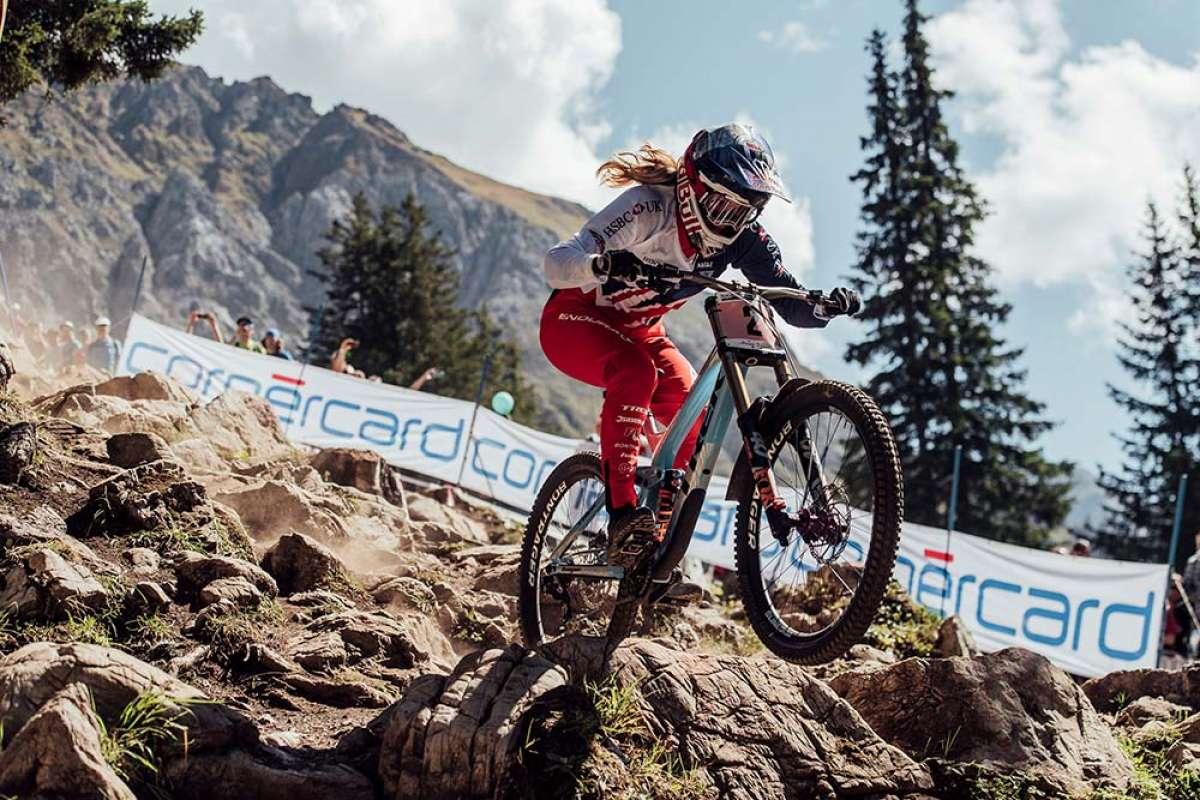 El descenso ganador de Rachel Atherton en el Mundial DHI 2018 de Lenzerheide