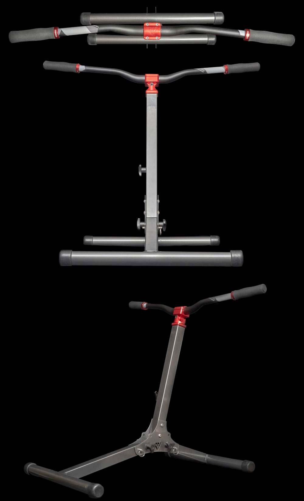 En TodoMountainBike: Descent Master, un aparato para entrenar músculos simulando los movimientos de una bici de montaña