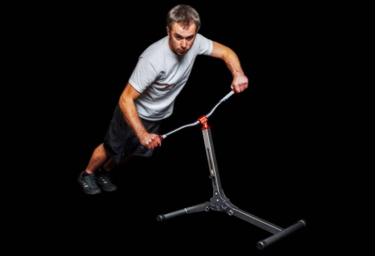 Descent Master, un aparato para entrenar músculos simulando los movimientos de una bici de montaña