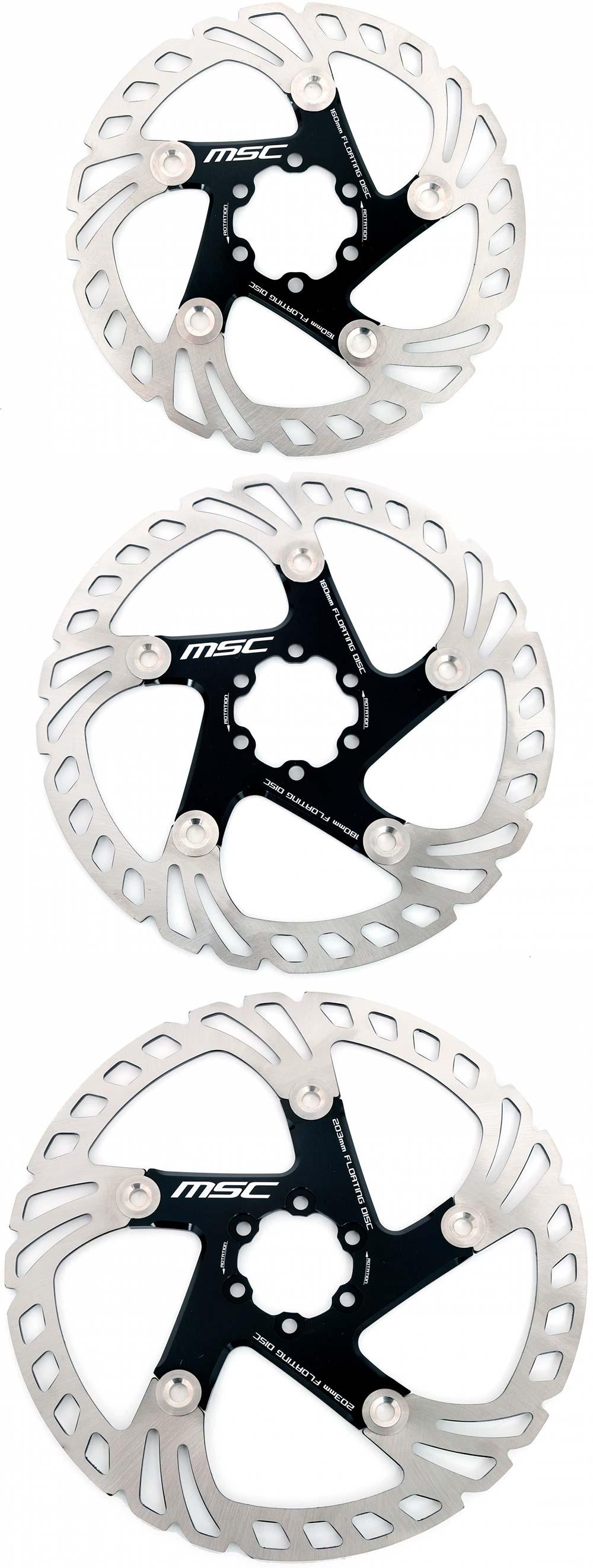 En TodoMountainBike: MSC Bikes presenta sus discos de freno flotantes, incluyendo un modelo con recubrimiento cerámico