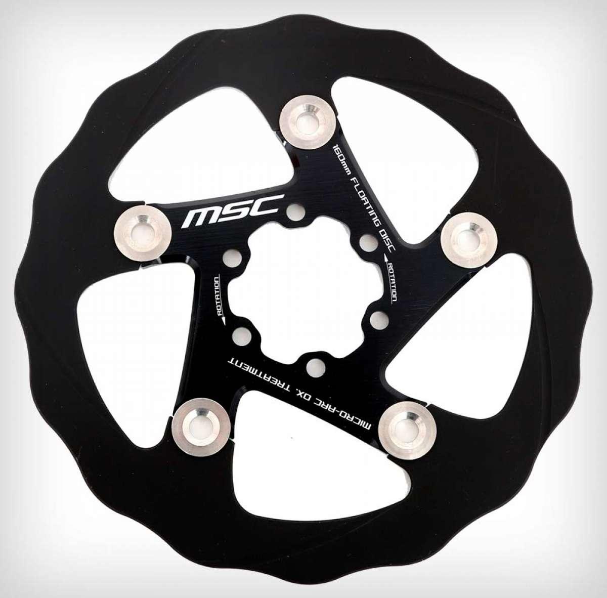 MSC Bikes presenta sus discos de freno flotantes, incluyendo un modelo con recubrimiento cerámico