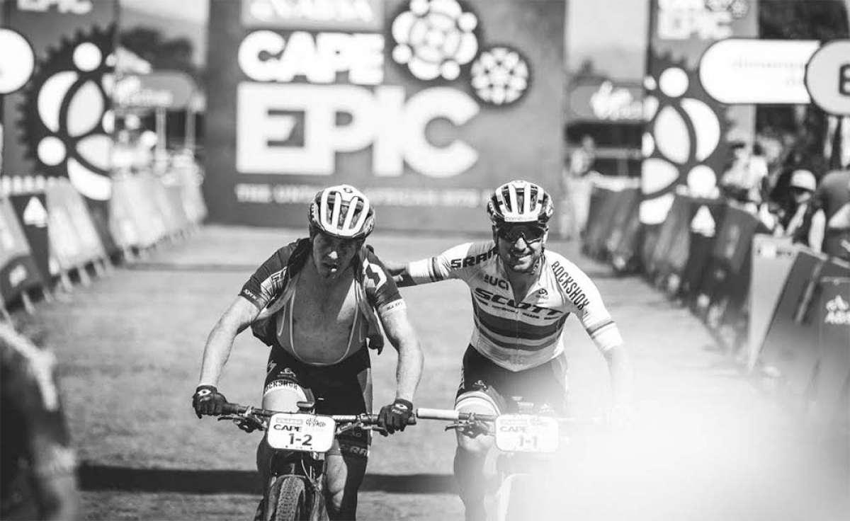 De ser favoritos a quedar fuera el segundo día de carrera: el drama de Nino Schurter y Matthias Stirnemann en la Absa Cape Epic 2018