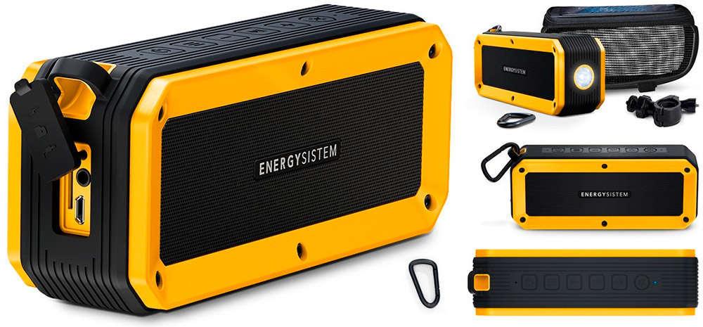 En TodoMountainBike: Energy Outdoor Box Bike, un altavoz con luz frontal para llevar la música encima de la bicicleta