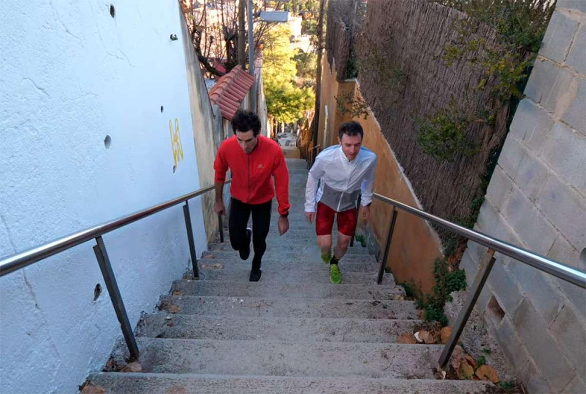 En TodoMountainBike: ¿Por qué entrenar en escaleras para mejorar sobre la bicicleta? Ibon Zugasti y Alberto Losada lo explican