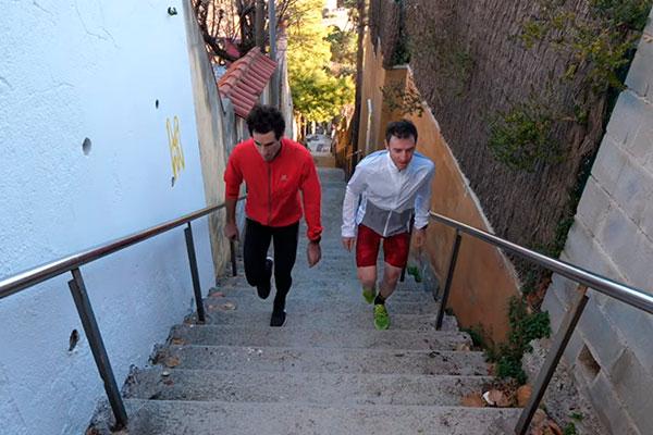 ¿Por qué entrenar en escaleras para mejorar sobre la bicicleta? Ibon Zugasti y Alberto Losada lo explican