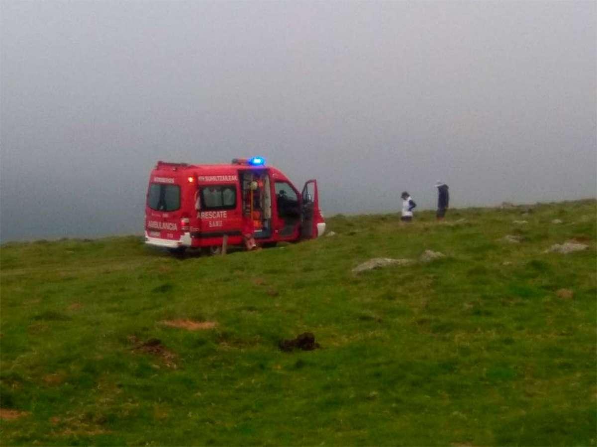 Fallece un ciclista de 55 años cuando subía una pista en el monte Gorramendi (Navarra)