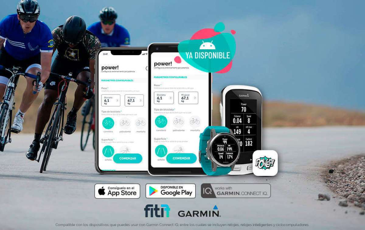Disponible la versión Android de Fitif Power! para mostrar métricas de potencia en dispositivos Garmin