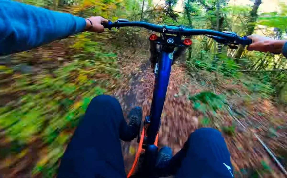 Vertiginosa sesión de Freeride por los senderos de Évian-les-Bains con Vincent Tupin