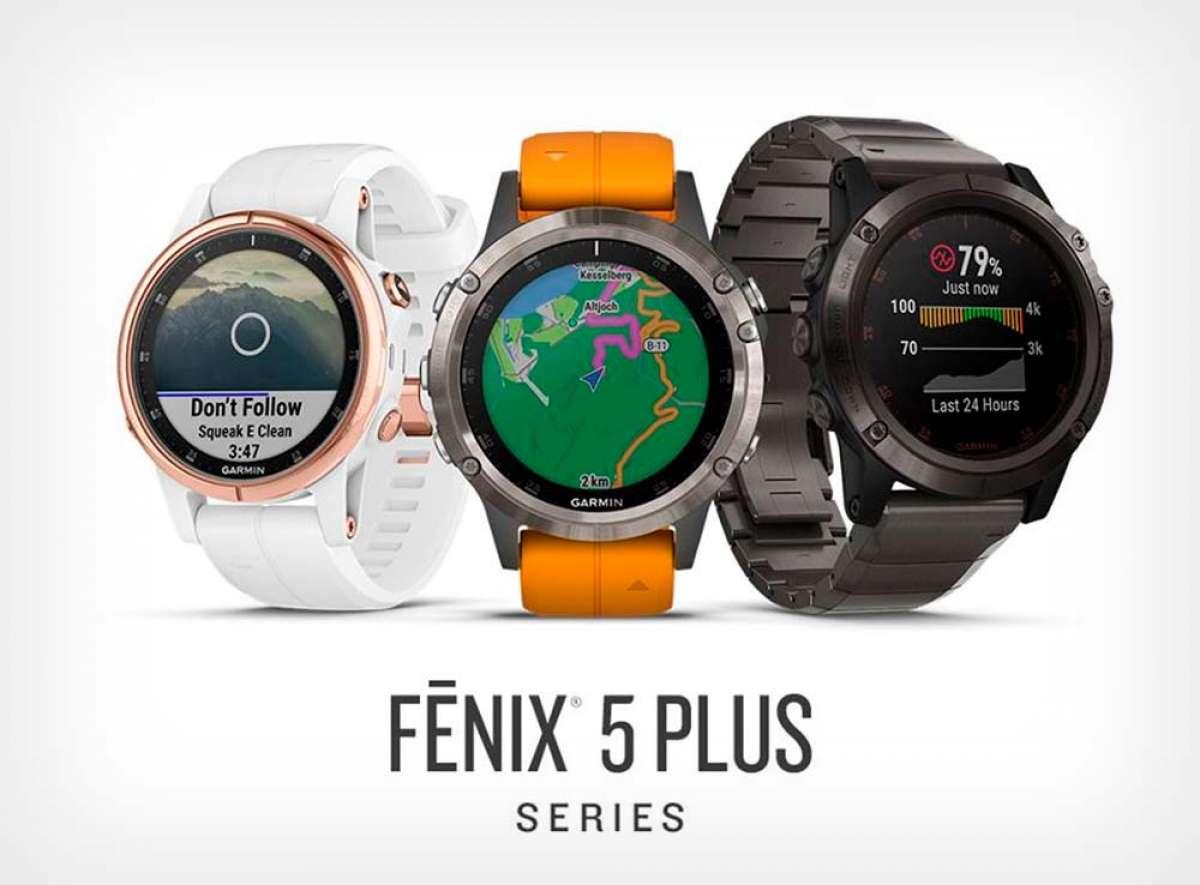 Garmin fēnix 5 Plus: mapas, soporte de pagos NFC, sensor del nivel de oxígeno en sangre y reproductor de música