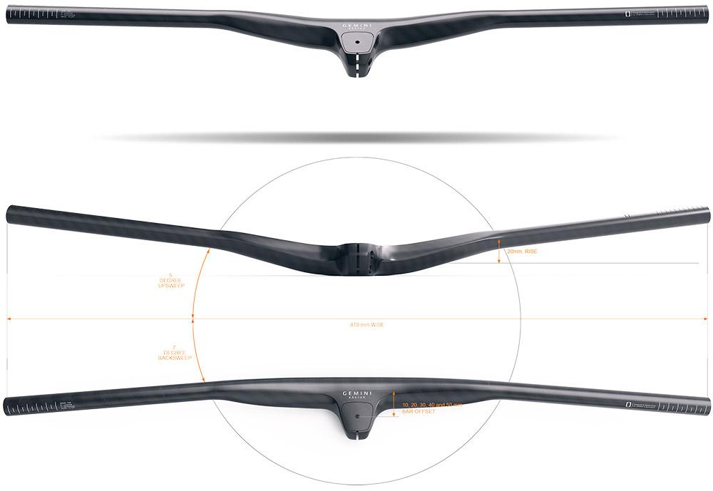 En TodoMountainBike: La marca Gemini se estrena en el mercado con tres espectaculares manillares de carbono con potencia integrada