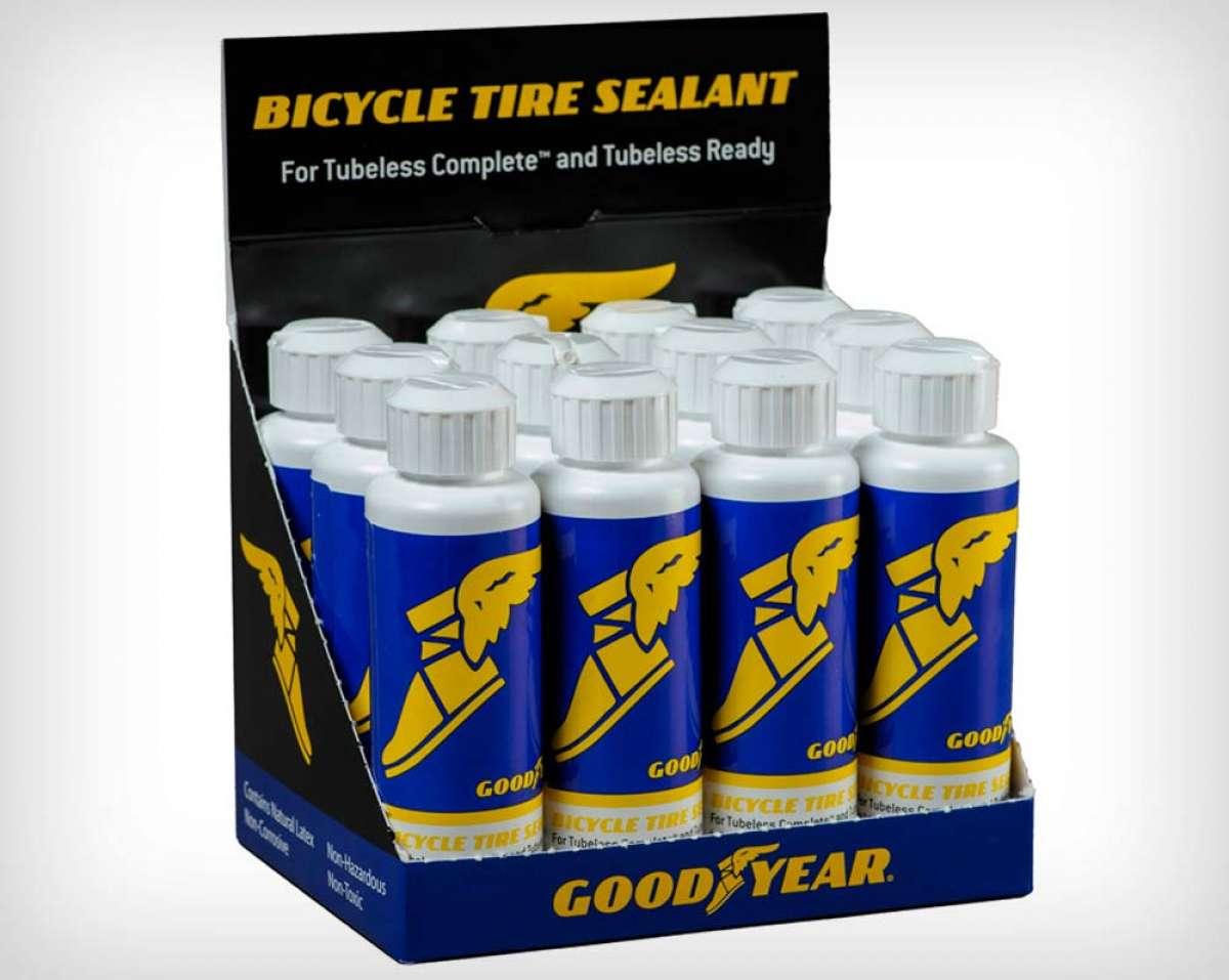 Good Year presenta su líquido sellante para neumáticos de bicicleta