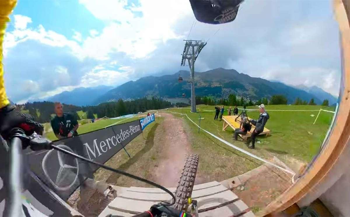 El descenso de Troy Brosnan en el Mundial DHI 2018 de Lenzerheide desde una GoPro Fusion