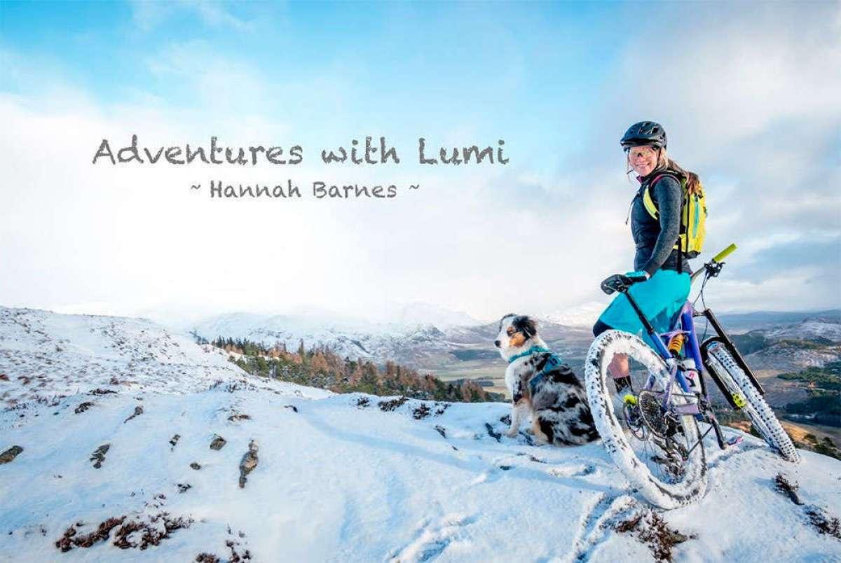 Mountain Bike sobre la nieve con Hannah Barnes y su perro Lumi