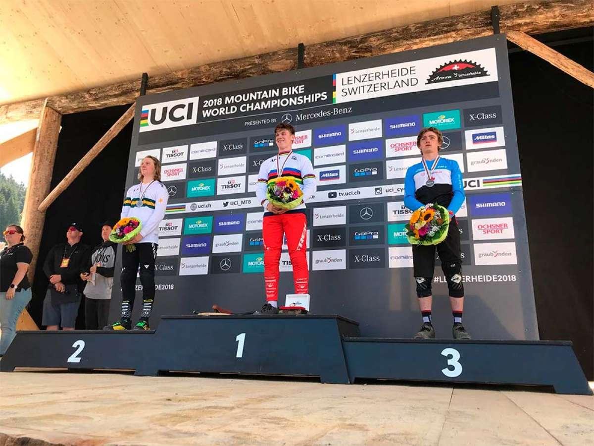 Kade Edwards y Valentina Holl, campeones del mundo Junior en el Mundial DHI 2018 de Lenzerheide