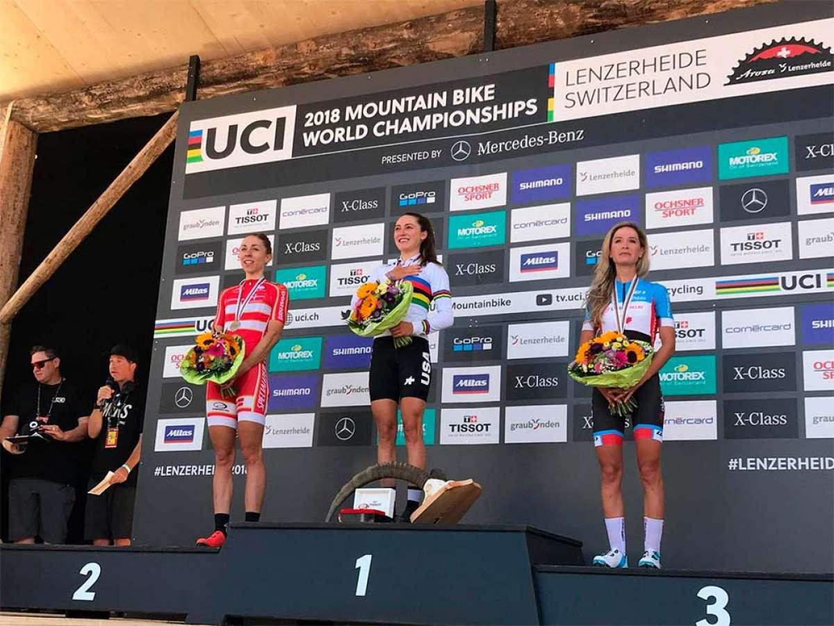 Kate Courtney se proclama campeona del mundo tras una final de infarto en el Mundial XCO 2018 de Lenzerheide