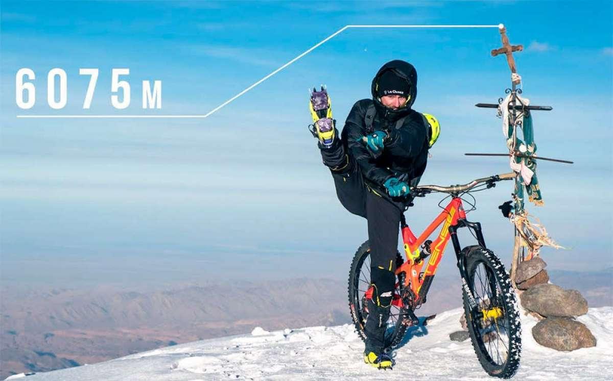 Mountain Bike a más de 6.000 metros de altura con Kilian Bron