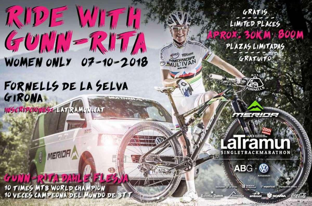 ¿Un día pedaleando junto a Gunn-Rita Dahle? LaTramun organiza una marcha solo para chicas