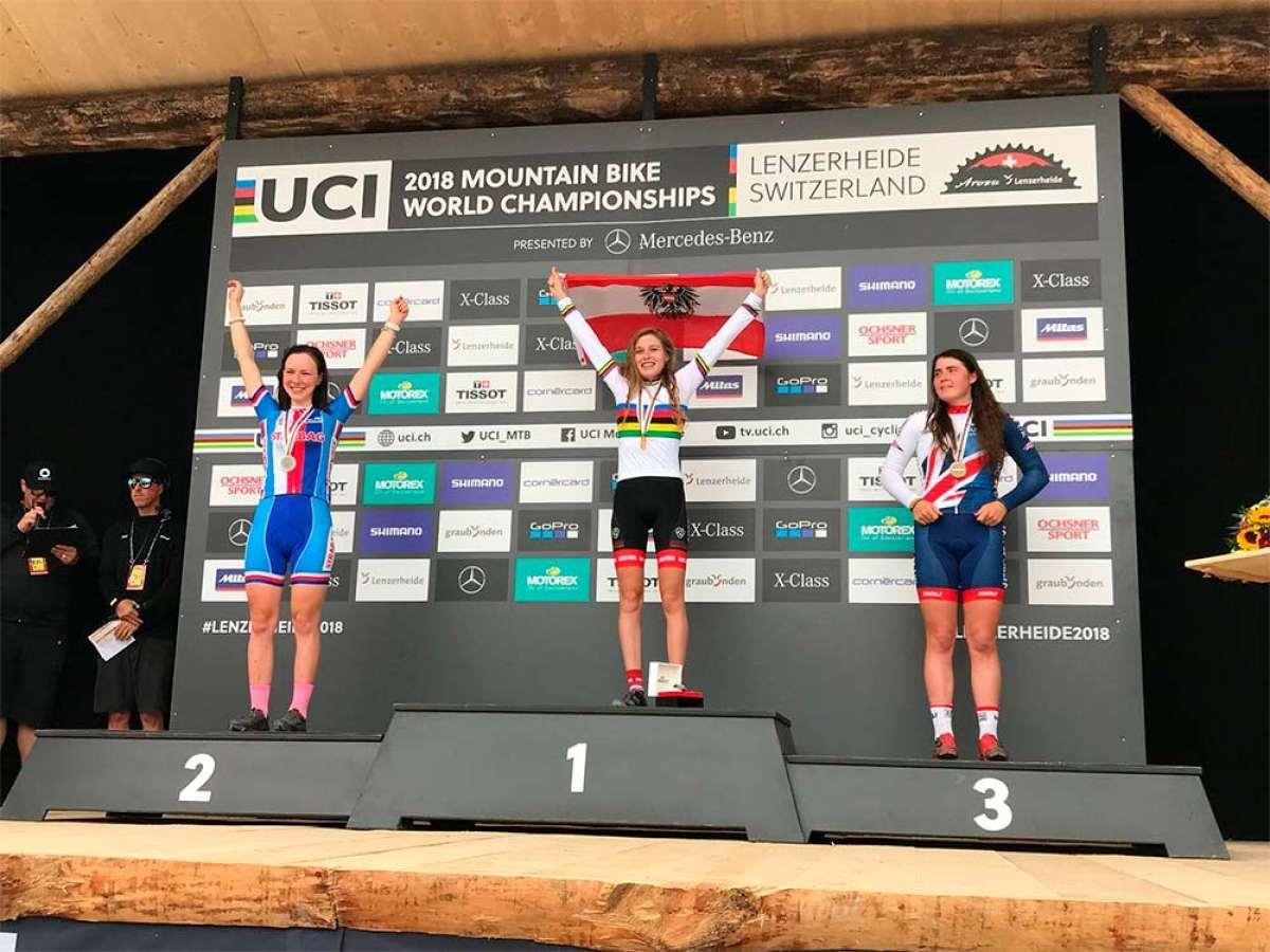 Laura Stigger revalida en Lenzerheide su título de campeona del mundo de XCO en categoría Junior
