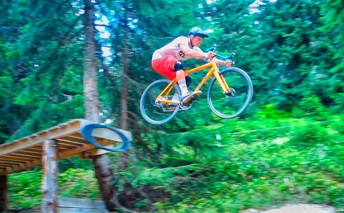 Rodando con una bicicleta de Ciclocross por las pistas de Super Morzine