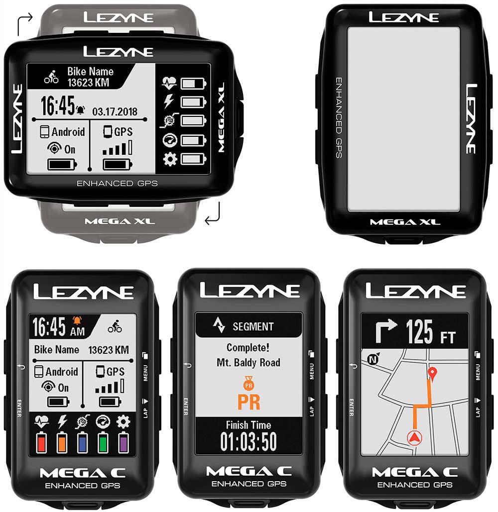 En TodoMountainBike: Funciones avanzadas de navegación y pantalla grande a todo color para los GPS Mega C y Mega XL de Lezyne