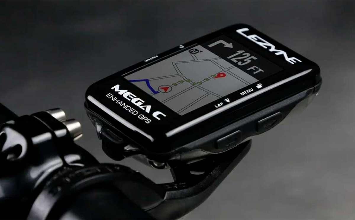 Funciones avanzadas de navegación y pantalla grande a todo color para los GPS Mega C y Mega XL de Lezyne