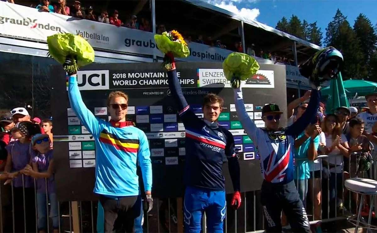 Loïc Bruni se proclama campeón del mundo en el Mundial DHI 2018 de Lenzerheide
