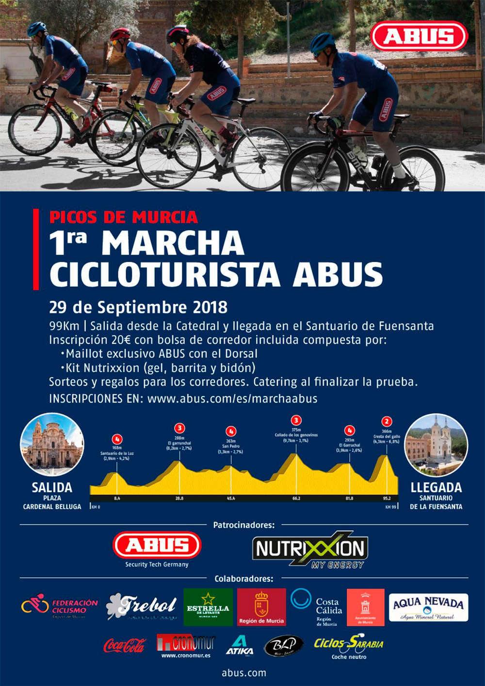 La marcha cicloturista ABUS-Picos de Murcia se estrena en el calendario