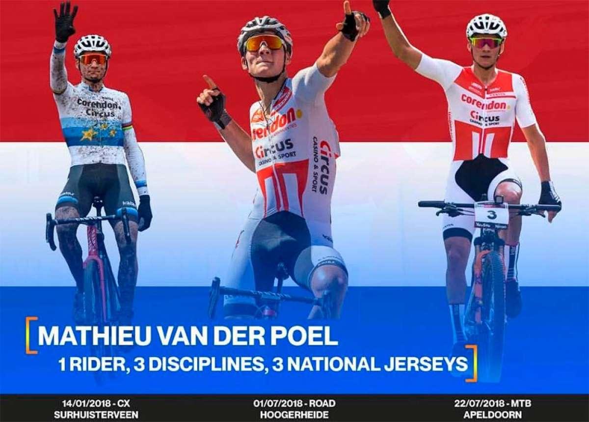 En TodoMountainBike: Mathieu van der Poel hace historia en el ciclismo holandés con un triple título nacional: Carretera, Ciclocross y XCO