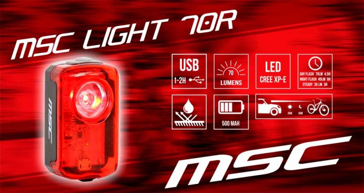 MSC Bikes presenta su luz diurna para bicicletas: la MSC Light 70R